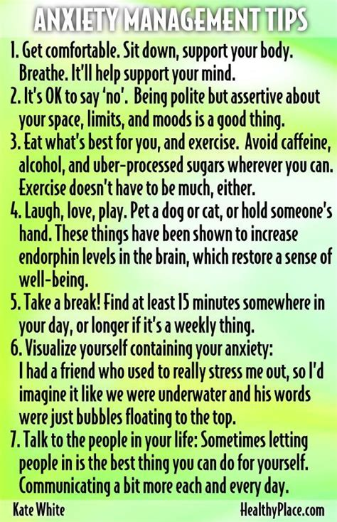 Anxiety Management Tips Pictures, Photos, and Images for