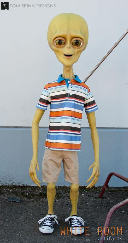 """Life Size Alien Statue """"Brian"""" for Exede Internet - Tom"""