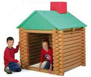 Log Cabin Play House - they are pretty much life size foam