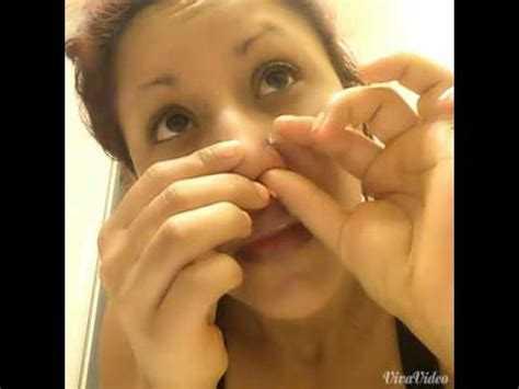 how to make your nose piercing at home - YouTube