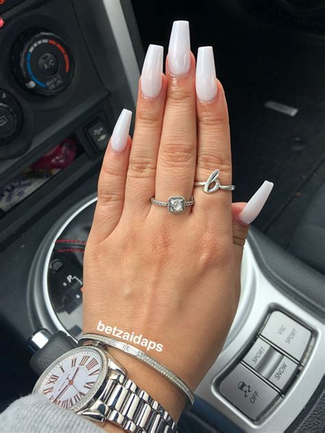 All white acrylic nails - New Expression Nails
