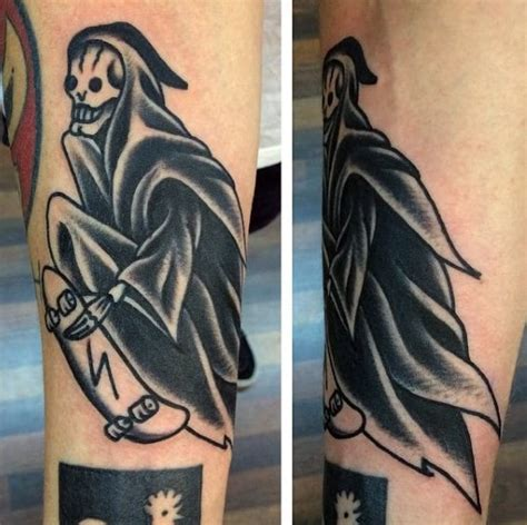 100 Skateboard Tattoos For Men - Cool Design Ideas To Roll
