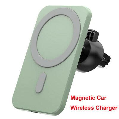 Smart Qi Fast Digital 15w Magnetic Car Wireless Charger