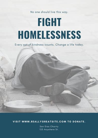 Customize 24+ Homelessness Poster templates online - Canva