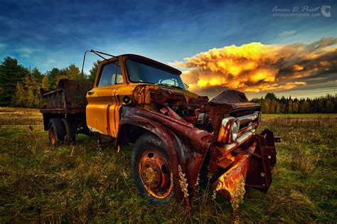 Old dump truck at sunset   Aaron Priest Photography