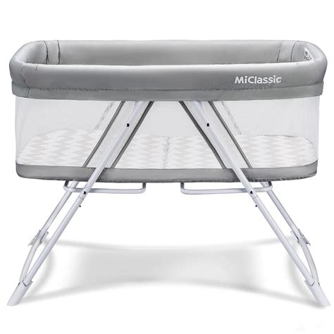 MiClassic All Mesh 2in1 Stationary & Rock Bassinet One
