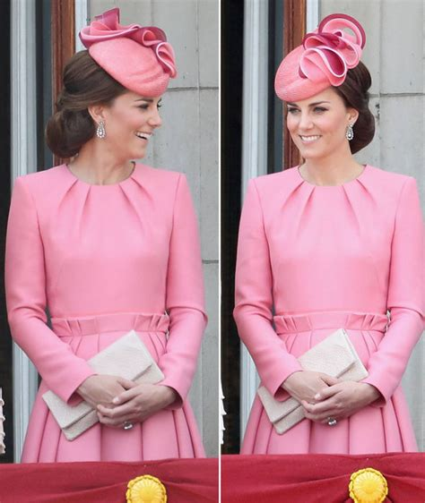 Kate Middleton: Duchess of Cambridge looks pretty in pink