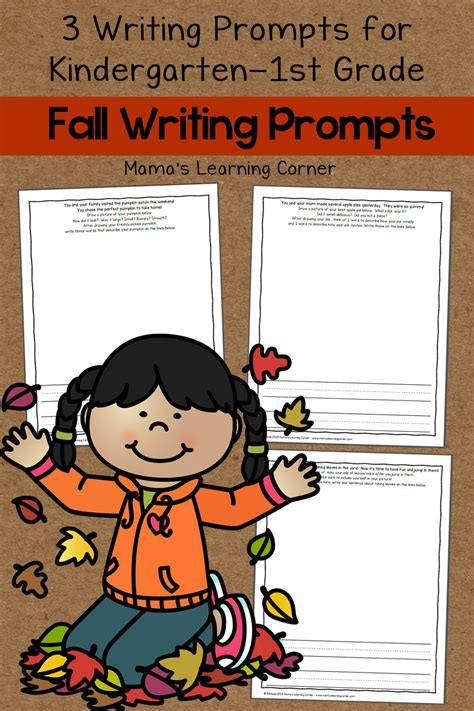 Set of 3 Fall Writing Prompts - Mamas Learning Corner