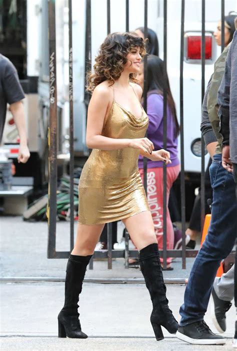Selena Gomez in a Gold Dress Was Seen Out in Los Angeles