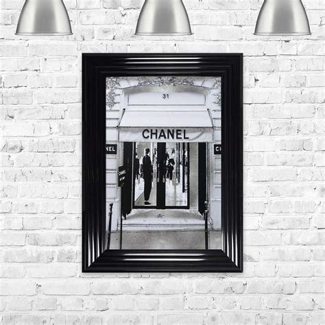 CHANEL SILVER SHOP FRONT FRAMED WALL ART BY SHH INTERIORS