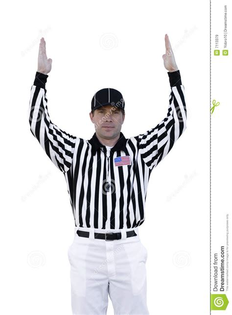 Touchdown Referee Royalty Free Stock Images - Image: 7113379