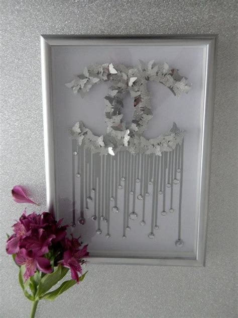 Silver picture for the home,Chanel glitter picture CC,home