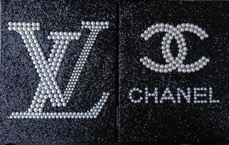 Inspired Chanel & Louis Vuitton Pearl logo With Black